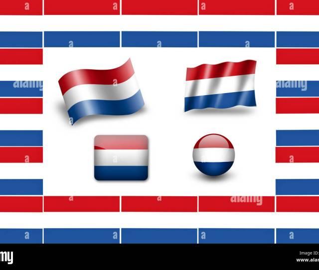 Bandera De Holanda Icon Set Marco Banderas