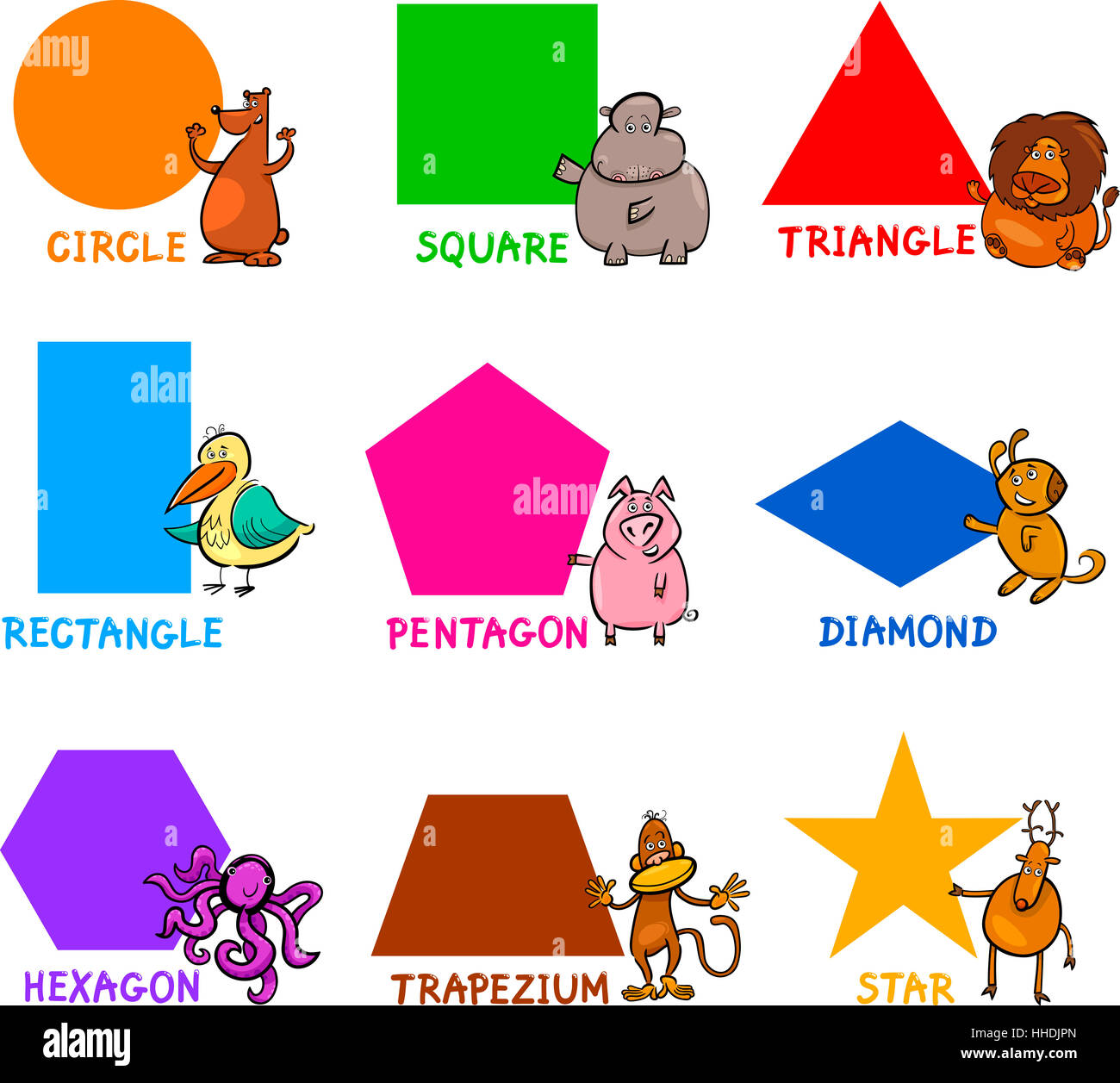 Basic Square Circle Triangle Diamond Imagenes De Stock
