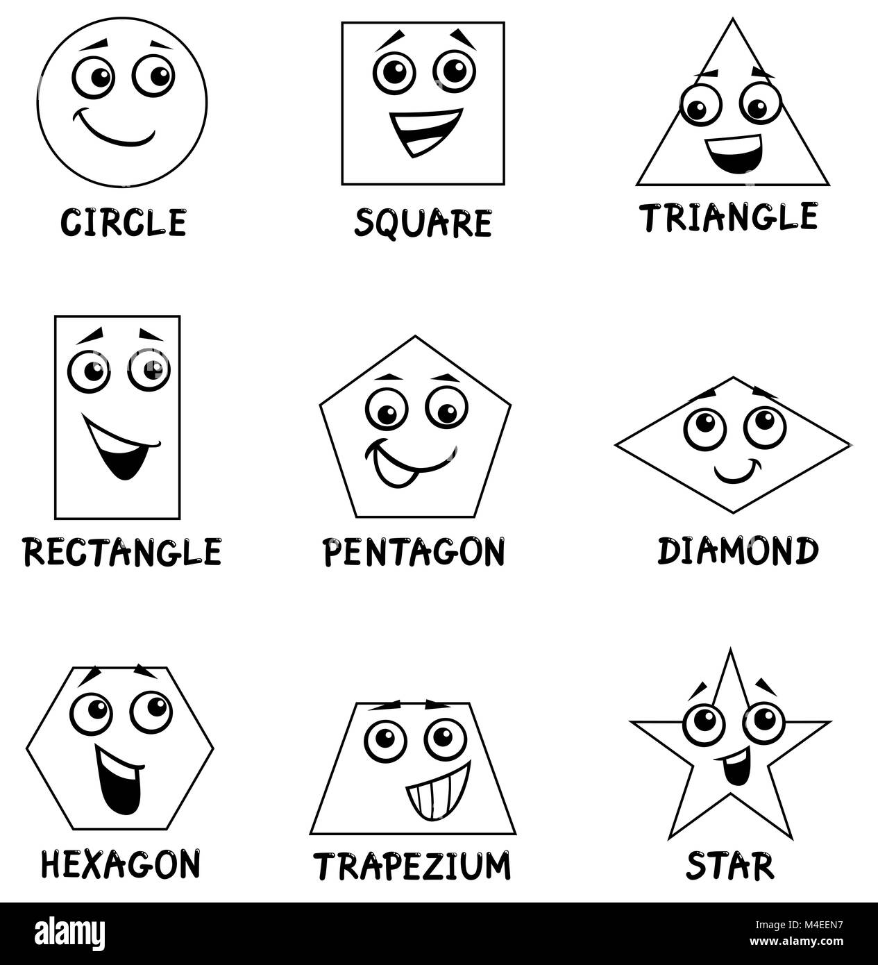 Libro Para Colorear De Formas Geometricas Fotografia De