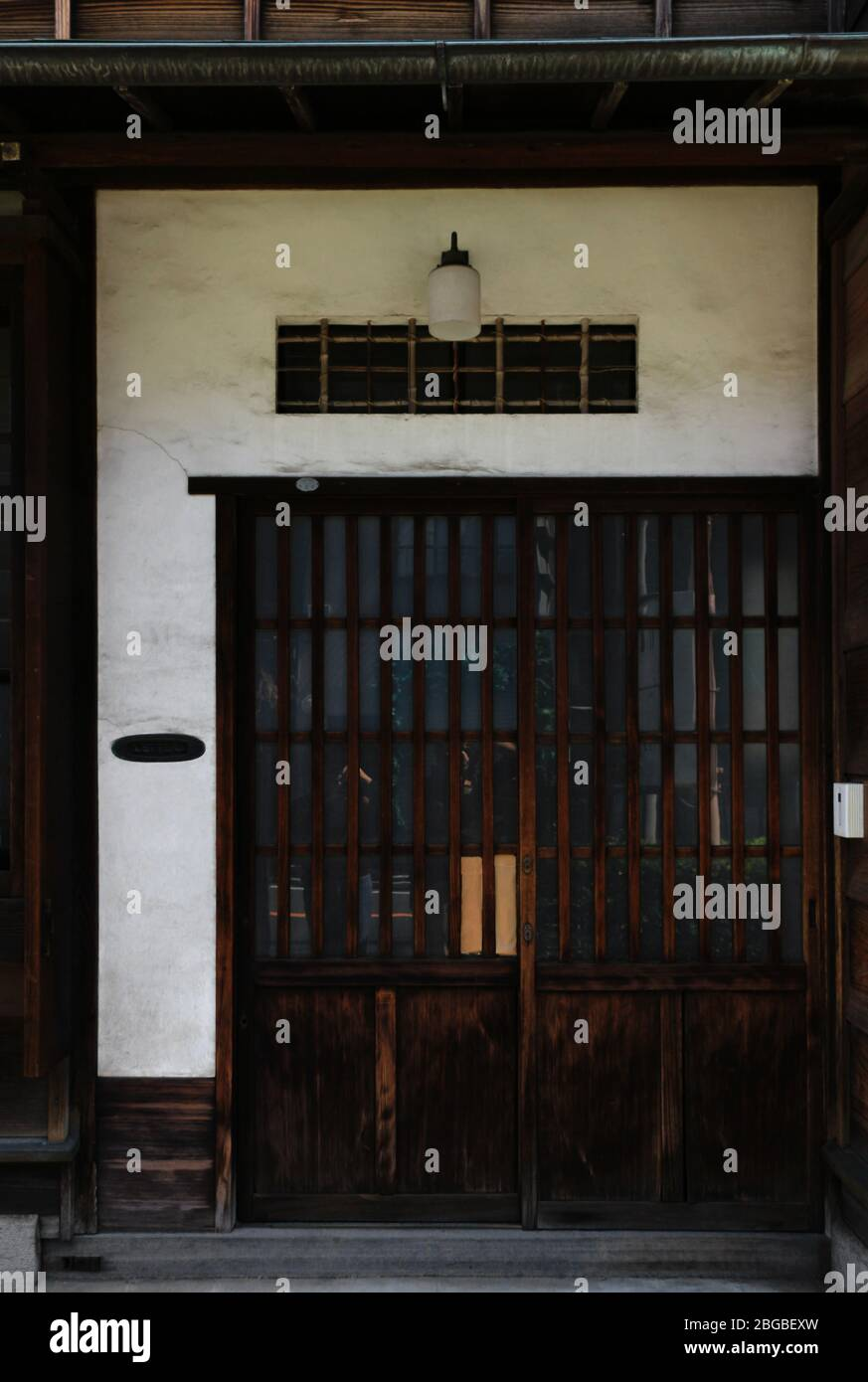 https www alamyimages fr paysage de l entree d une maison japonaise construite au debut de la periode showa image354295057 html