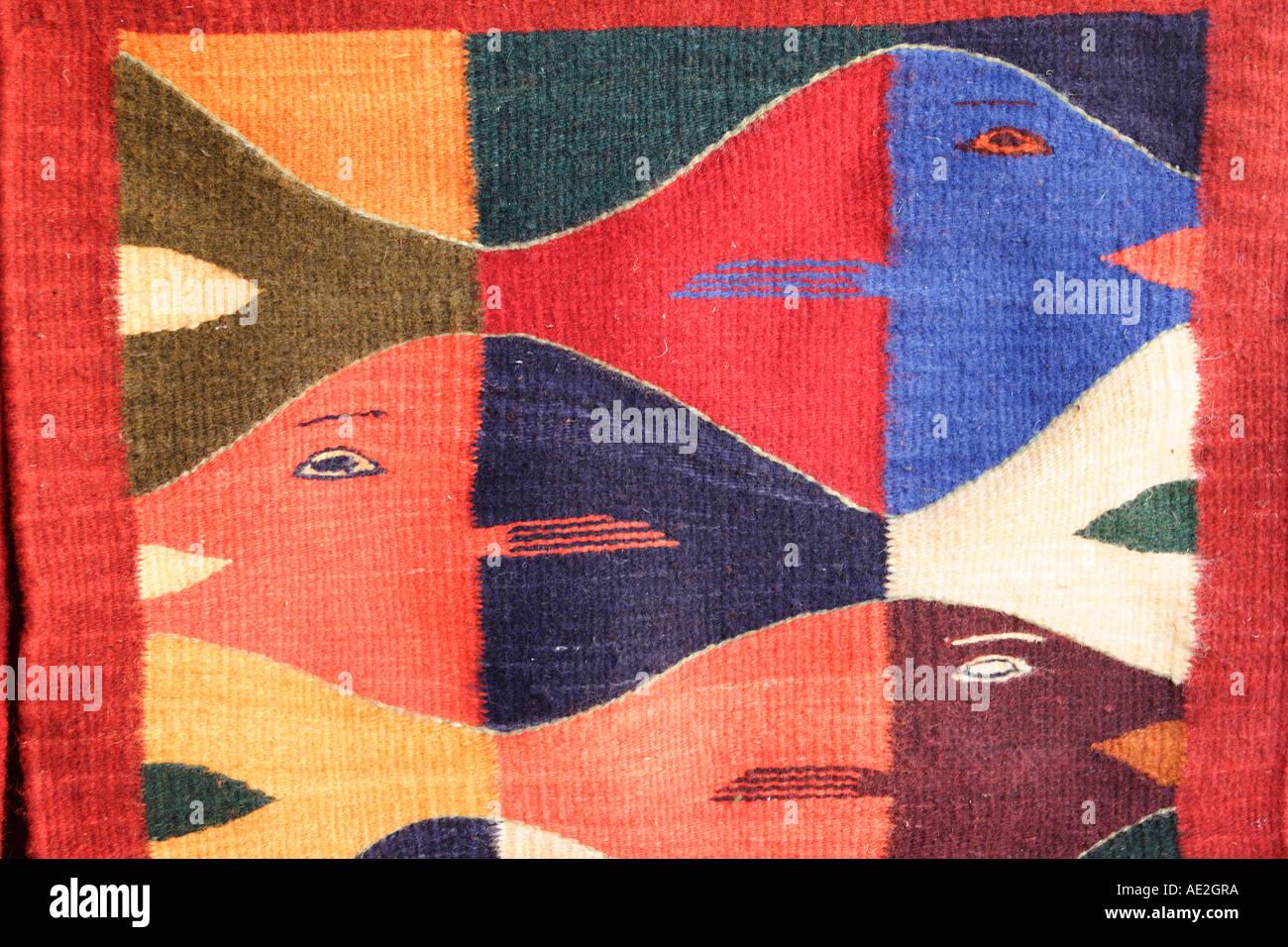 https www alamyimages fr tapis style zapoteque teotitlan del valle village pres de la ville d oaxaca au mexique image7741049 html