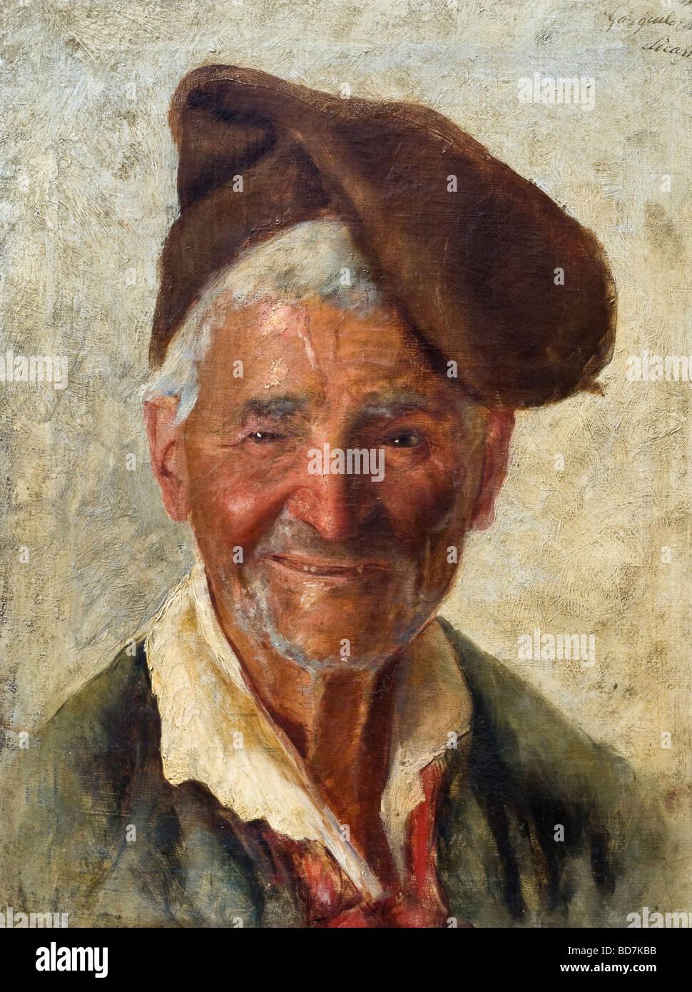https www alamyimages fr photo image 19e siecle peinture a l huile italienne d alerte lumineux heureux pecheur napolitain 25369775 html