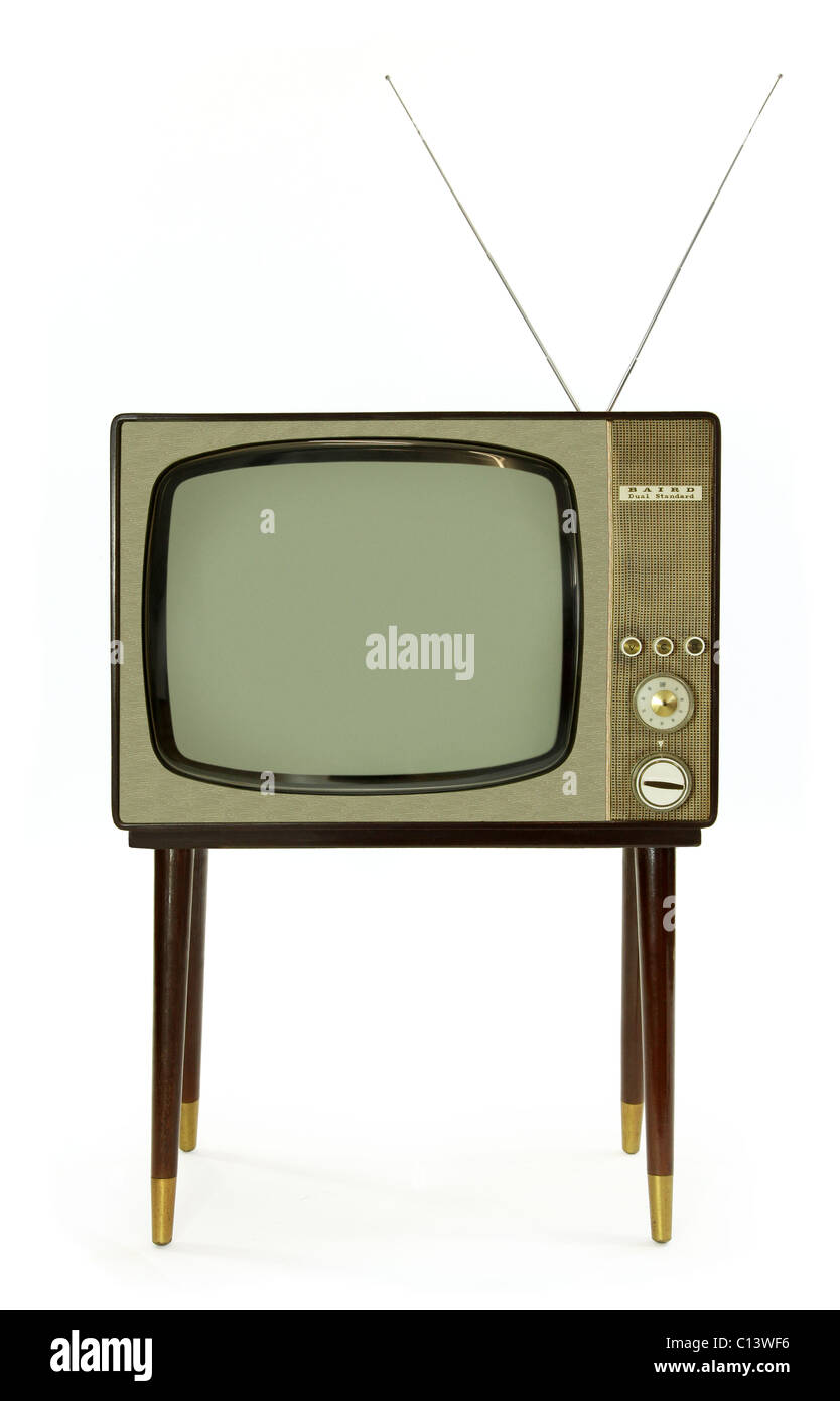 https www alamyimages fr photo image television en noir et blanc vintage des annees 1960 35121274 html