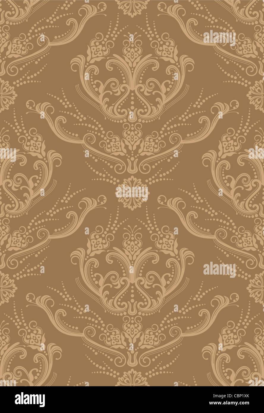 https www alamyimages fr photo image papier peint a fleurs marron clair de luxe tendance 41666427 html