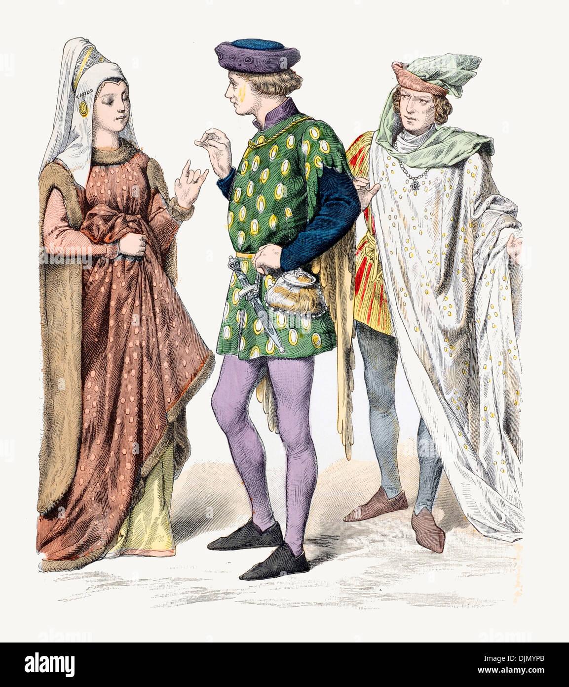 https www alamyimages fr 15e siecle xv anglais costume de la noblesse image63155747 html