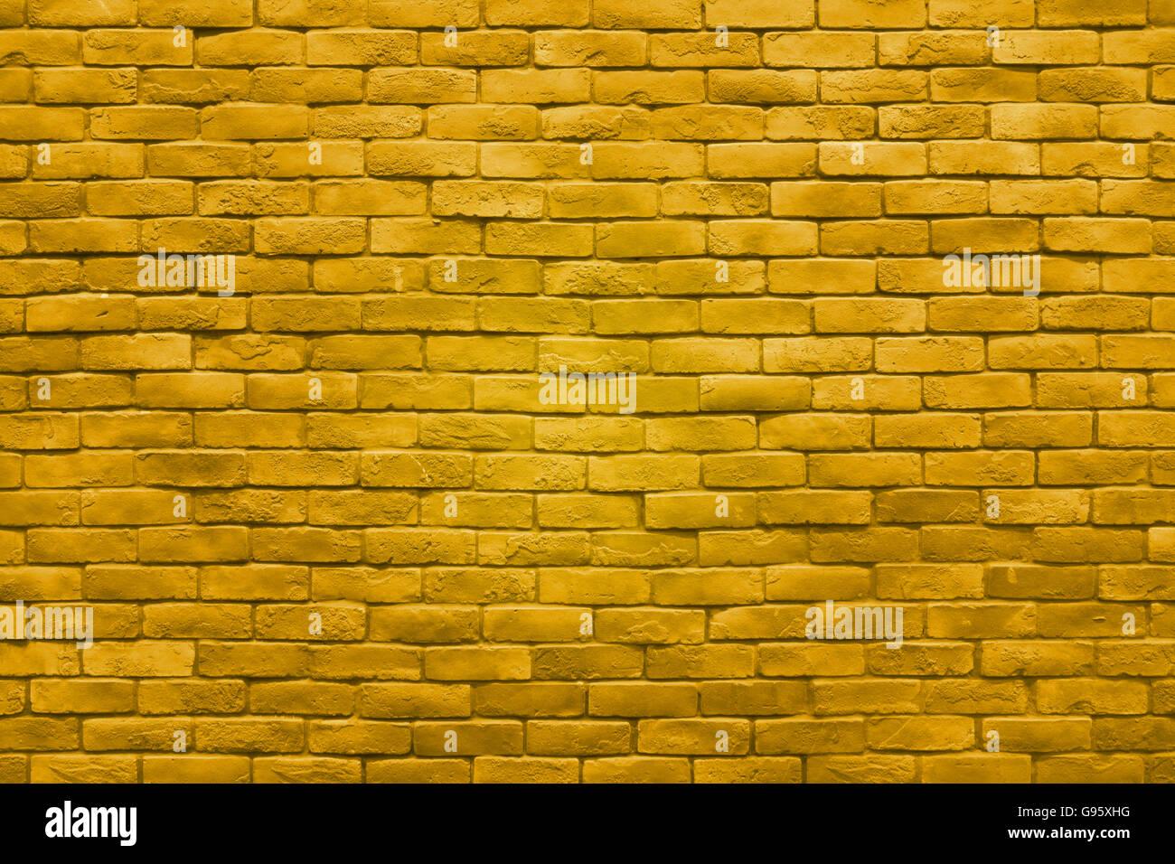 https www alamyimages fr photo image la texture du mur de brique en or jaune fond couleur 108924748 html