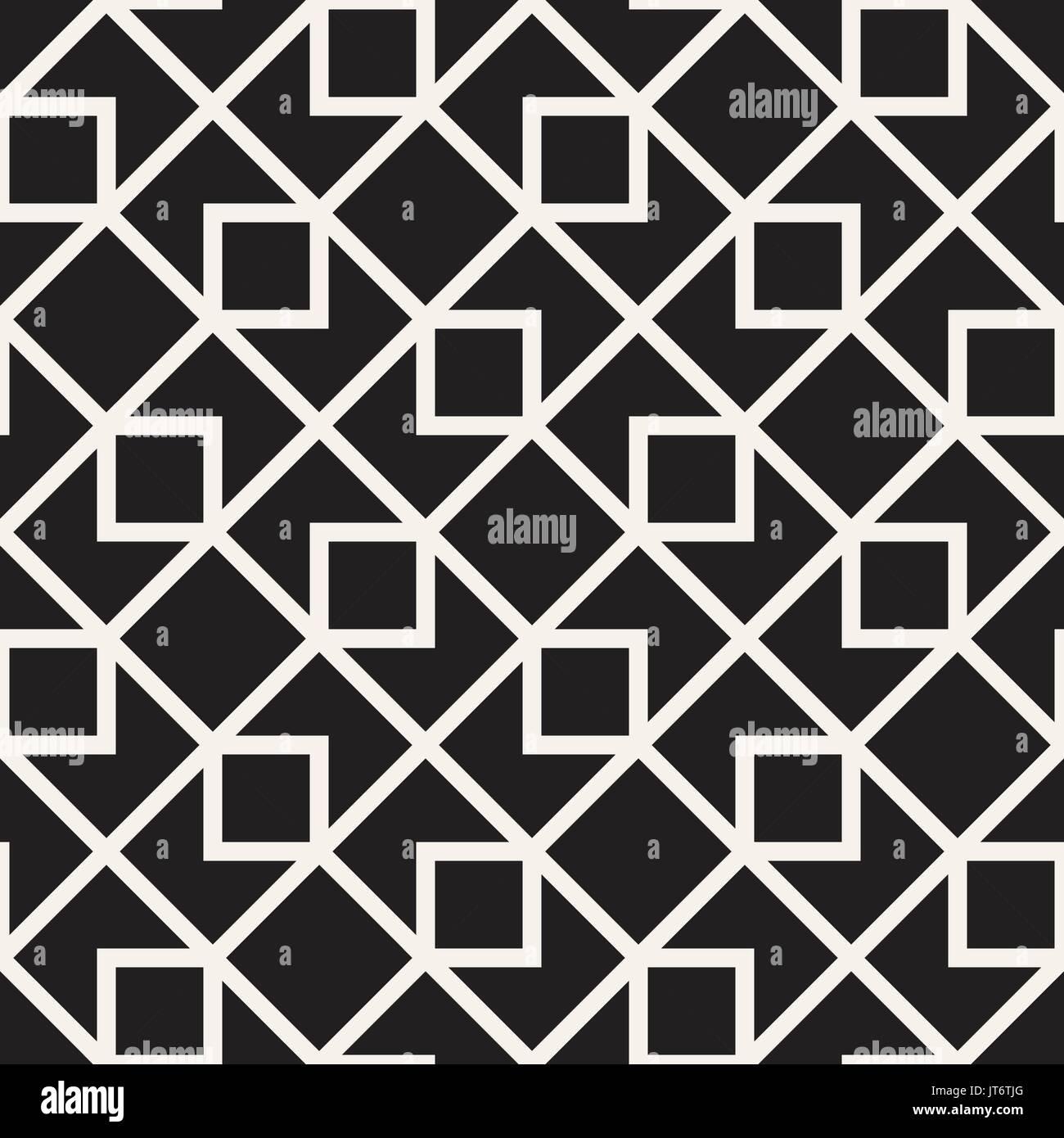 https www alamyimages fr seamless vector noir et blanc fond abstrait motif de lignes carrelage geometrique des formes de l ornement image152585736 html