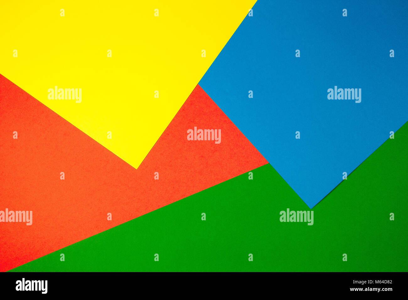https www alamyimages fr photo image documents couleur avec fond plat geometrie composition jaune vert rouge et bleu 175889842 html