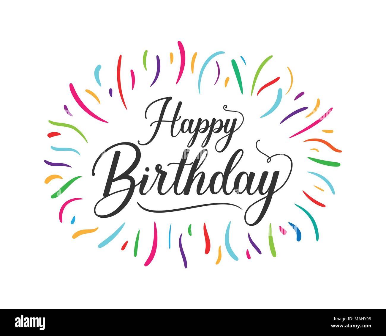 https www alamyimages fr joyeux anniversaire colore typographiques pour la conception graphique de l affiche banniere modele carte d anniversaire carte d invitation ou de voeux vector illustration image178644852 html