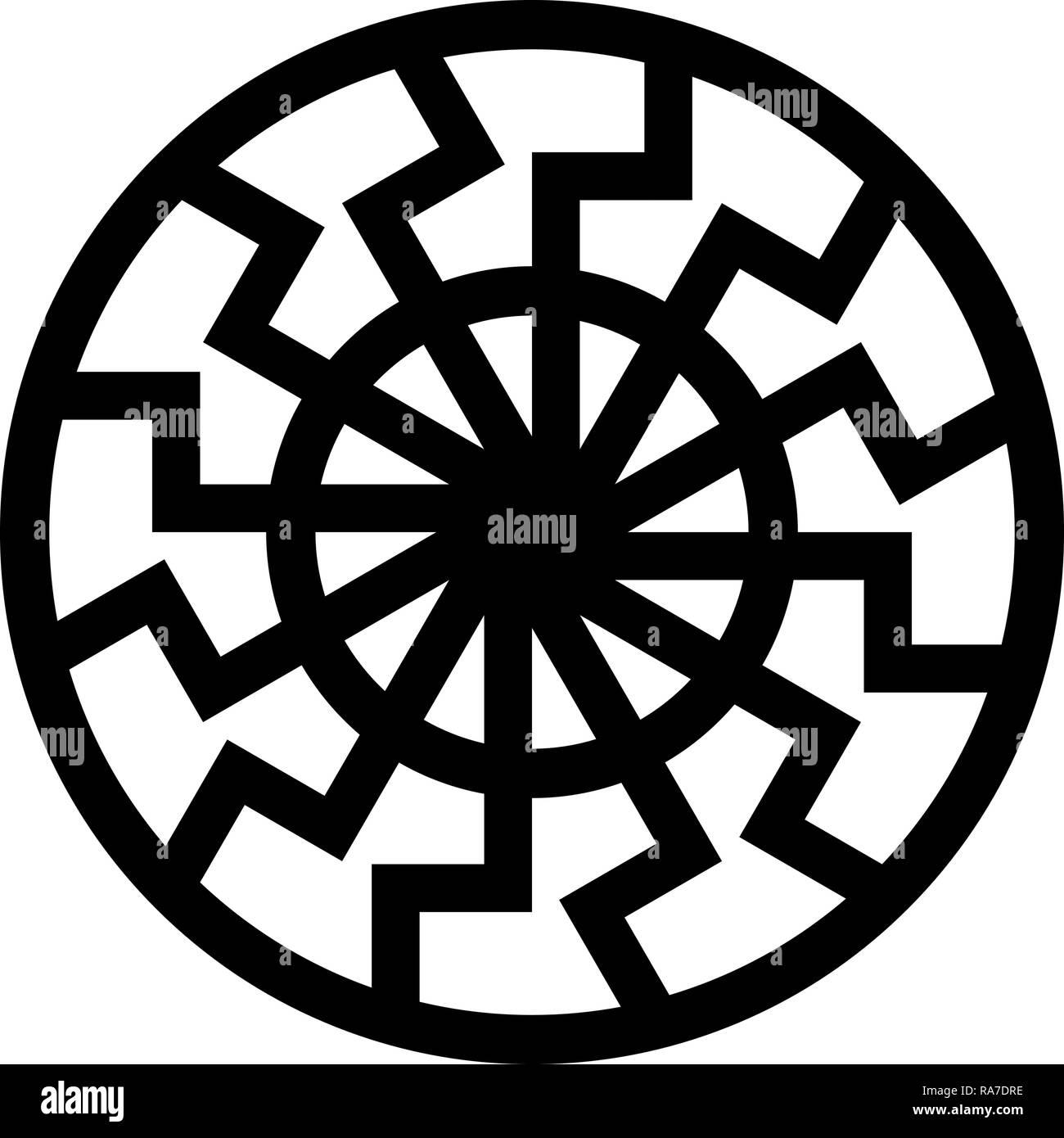 https www alamyimages fr symbole de soleil noir couleur noir je vecteur icone style plat simple image image230045858 html