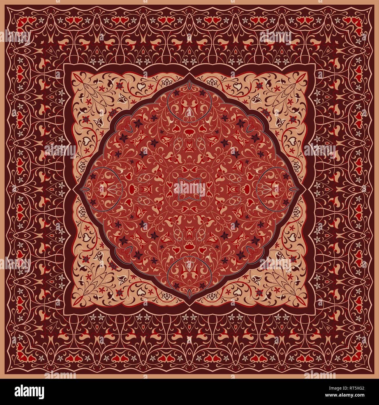 https www alamyimages fr l arabe ancien modele tapis persan rouge avec ornement riche pour le motif du tissu faites a la main decoration d interieur du textile image238617122 html