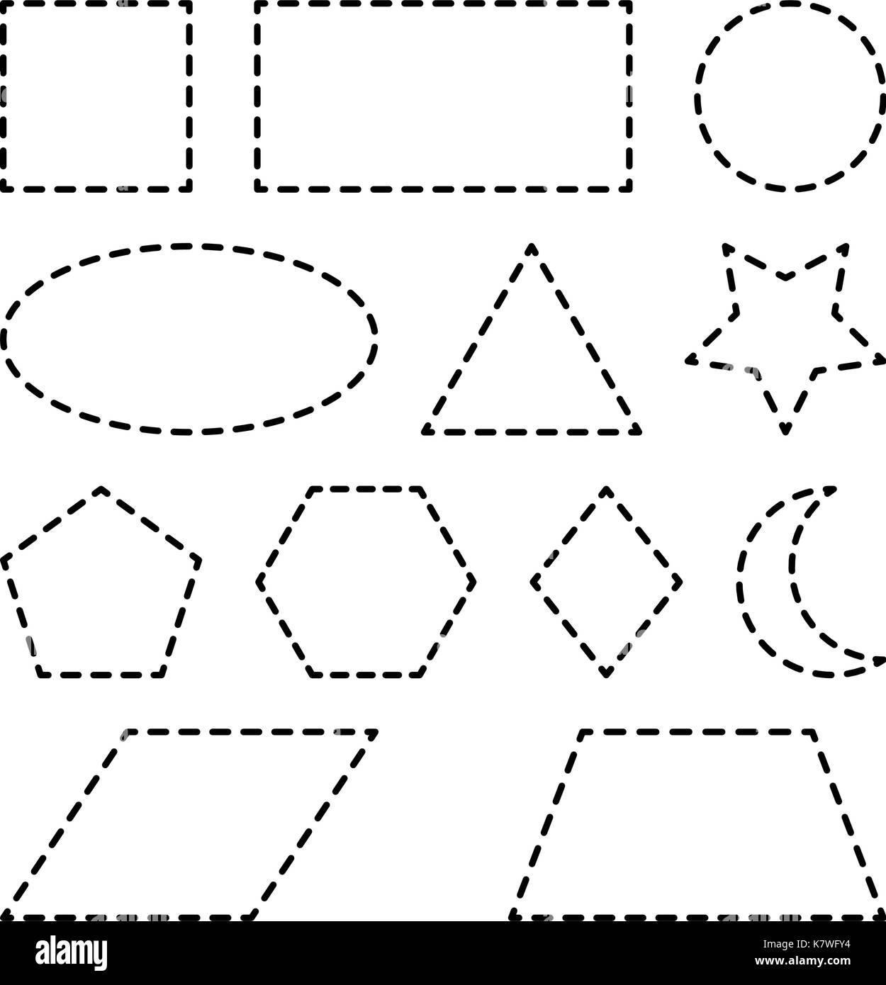Forme Geometriche Quadrato Cerchio Ovale Triangolo
