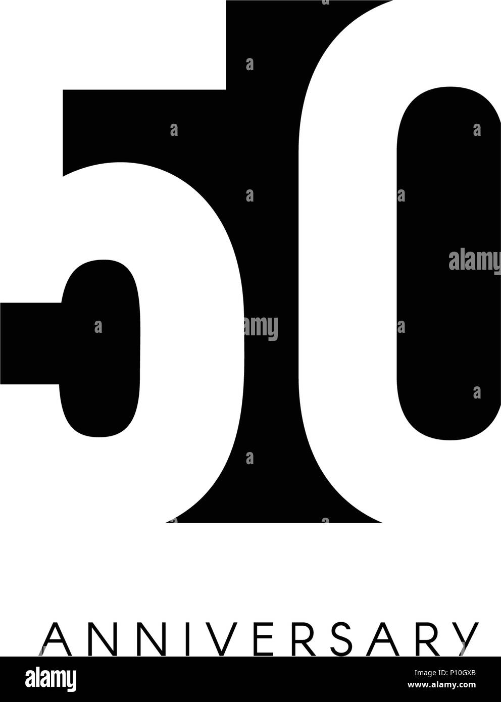 Cinquanta Anniversario Logo Minimalista Cinquantanni