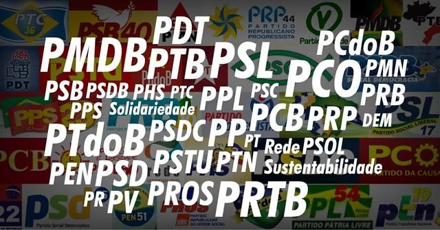 Os 7 partidos com os melhores desempenho na eleição em Santarém, partidos políticos do brasil