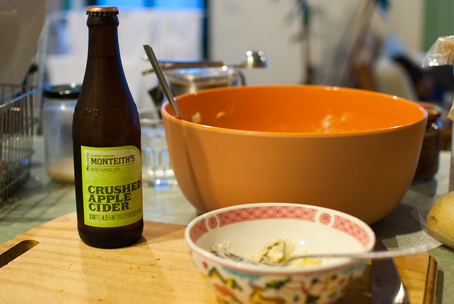 Monteith's Crushed Apple Cider (with potato salad!)