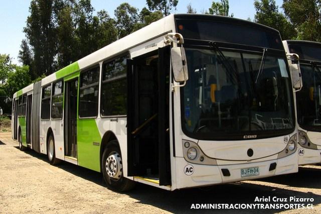 Transantiago - Metbus - Caio Mondego HA / Mercedes Benz (BFKC94)