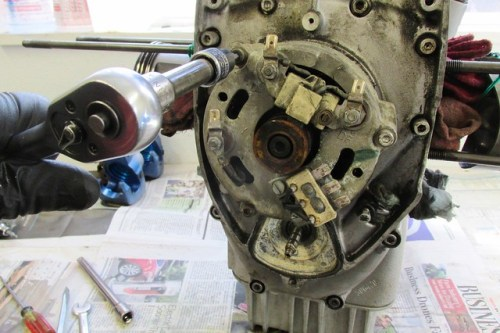 Removing (3) Stator Cover Bolts