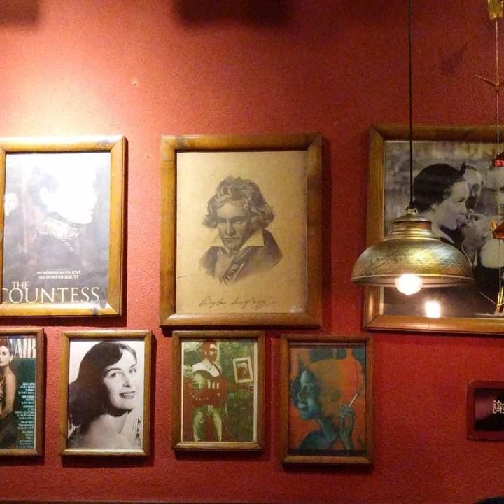 Western pop culture inspired restaurant featuring Beethoven.  Shenzhen