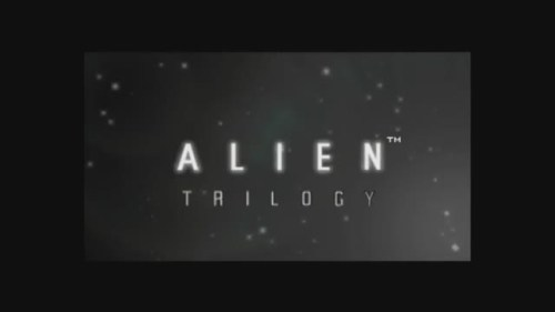 Alien Trilogy FMV title screen