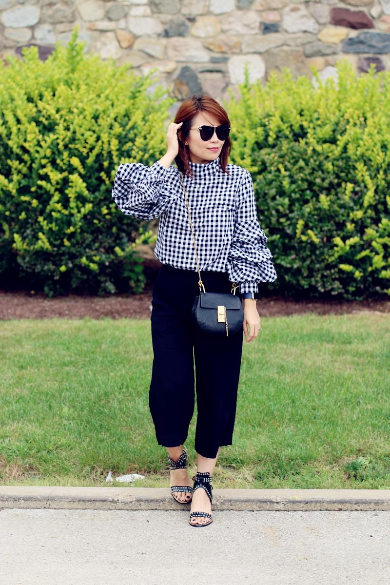 black-buffalo-check-shirt-culottes-chloe-drew-bag-5