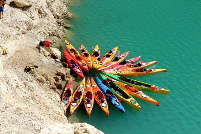 Kayak en el Congost del Mont-rebei