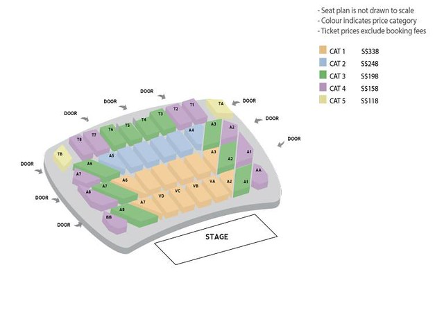Rain 'The Squall' Tour in Singapore Seating Plan