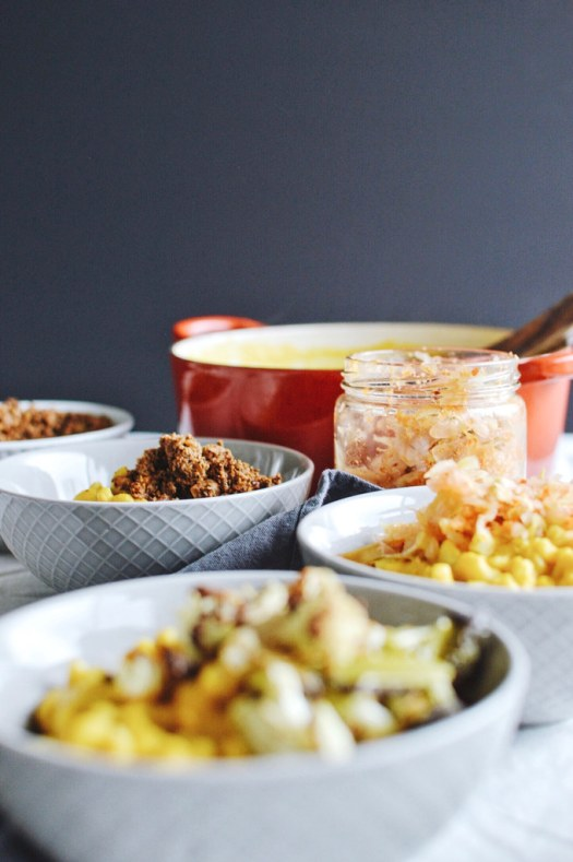 Roasted butternut mac and 'cheese' 3 ways