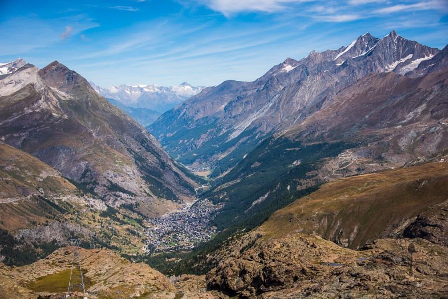 View from Matterhorn glacier paradise