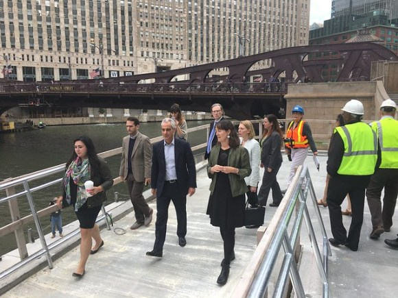 Final sections of the new Chicago Riverwalk