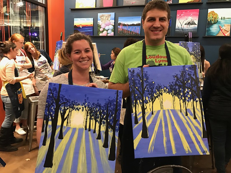 Paint night at muse paint bar