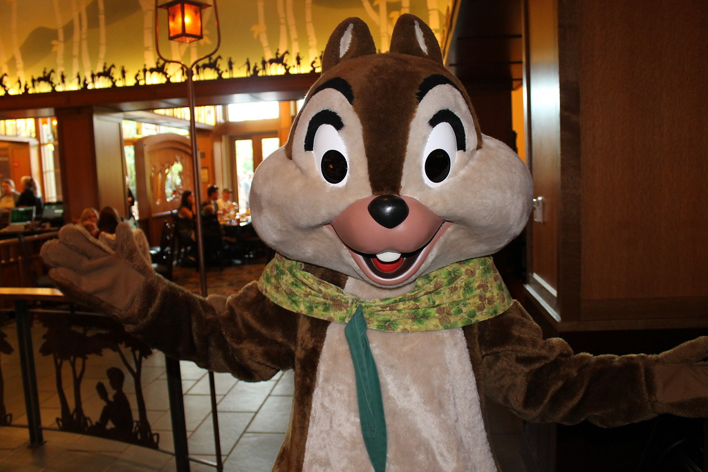 Meeting Chip at the Chip n' Dale Critter Breakfast