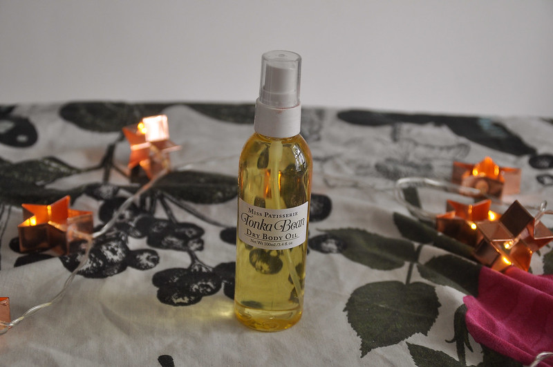 Tonka bean dry body oil review miss patisserie