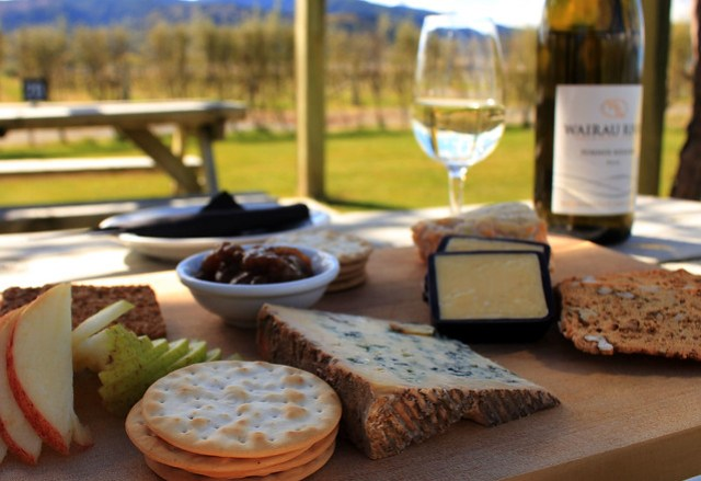 Cheese and wine in Blenheim