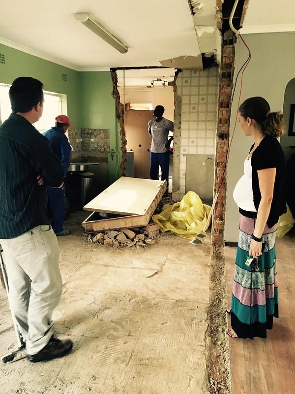 Kitchen renovation: Lindsey checks the progress