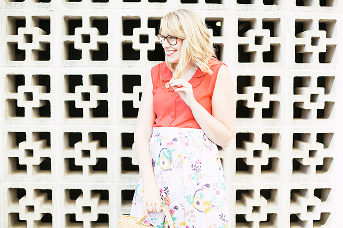 quirky skirt peter pan color blouse6