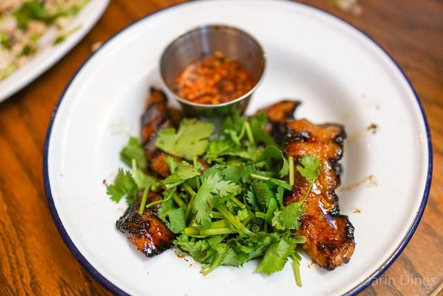 pork toro grilled fatty pig neck with 'jaew' northeastern chile dip