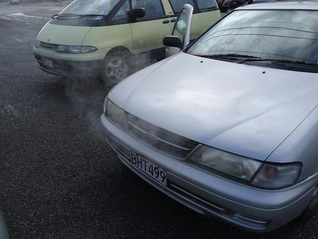 voiture qui fume