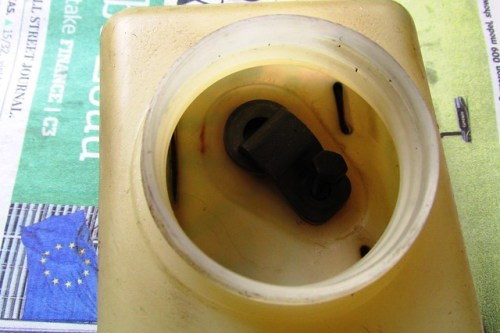 Earlier Style Master Cylinder Fluid Reservoir-Two Holes With Mounting Bracket