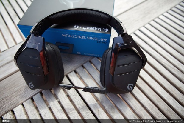 The rectangular ear-cups give the Logitech G633 Artemis Spectrum a bit of a futuristic look