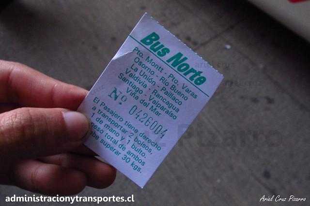 Ticket Equipaje Bus Norte