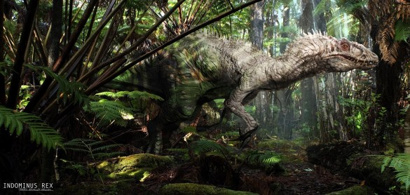JurassicWorld_IndominusRex_Albino_Jungle por Seth Engstrom