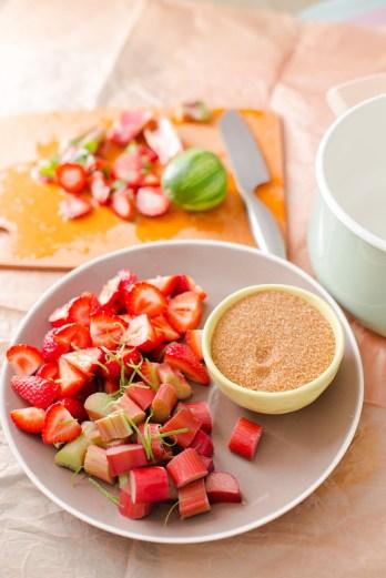 Strawberry Rhubarb Simple Syrup