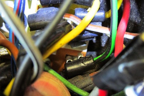 Green/Black Wire Is A Ground Wire-Goes to Brown Section of Circuit Board