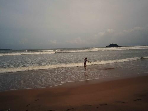 Briana at Weligama Beach