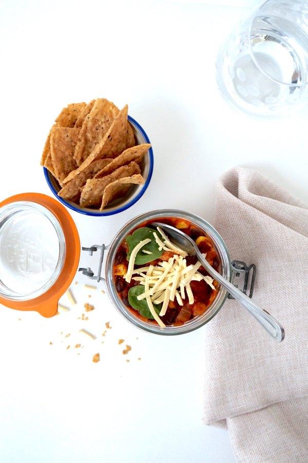 Chicken Taco Soup Napkin | thelittleredspoon.com