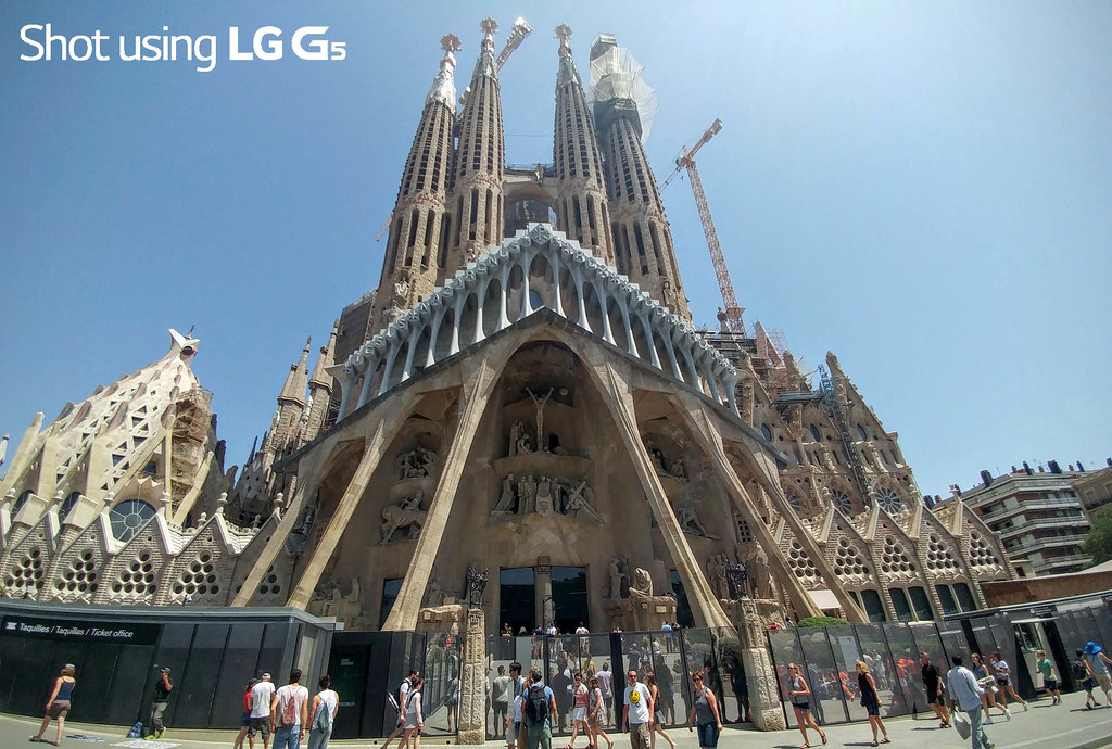Sagrada Familia (wide), Barcelona
