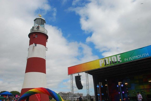Plymouth Pride Stage and Smeaton's Tower