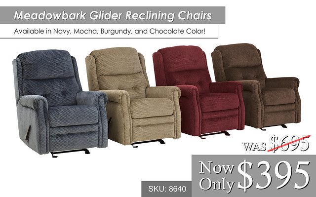 Meadowbark Glider Reclining Chairs 8640