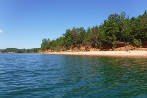 Paddling to Ghost Island in Lake Hartwell-87