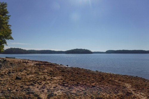Paddling to Ghost Island in Lake Hartwell-31